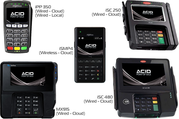 Acid Point of Sale Processing Terminals