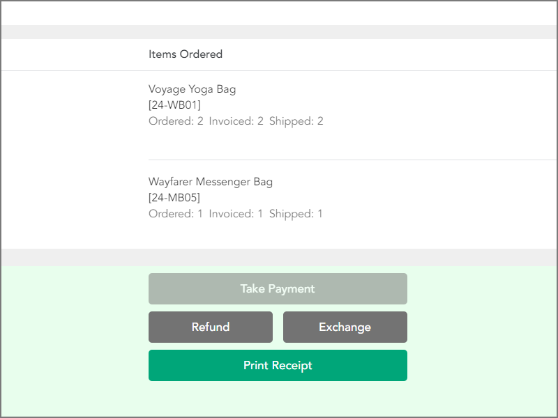 Starting the refund process from receipt