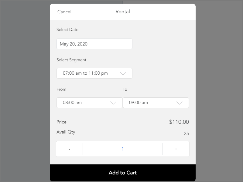 Rental feature in ACID POS