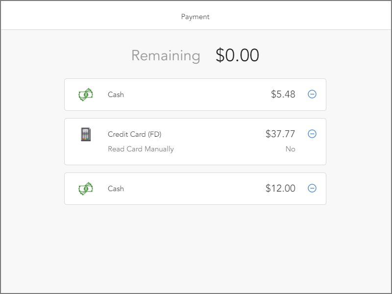 Split multiple payments