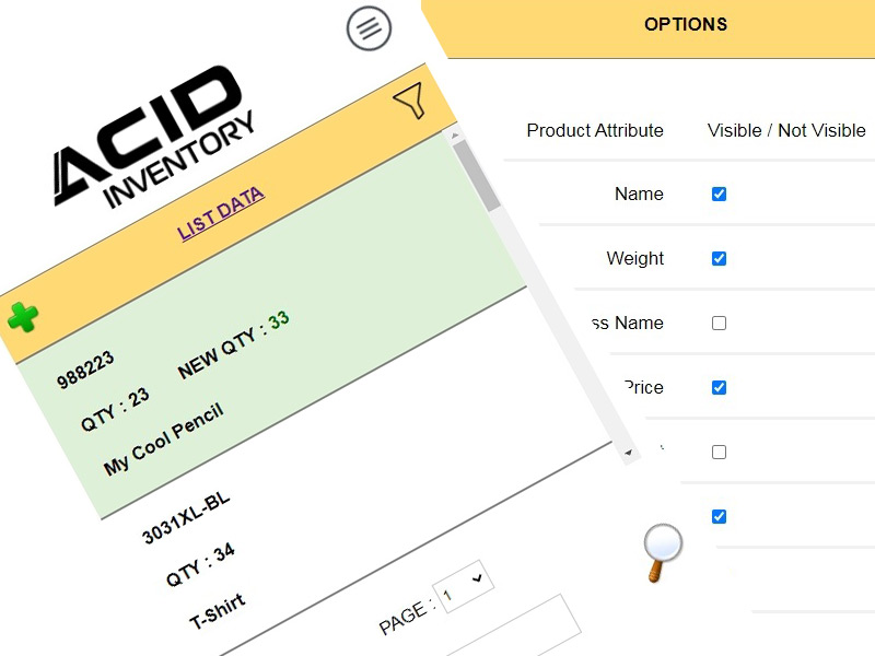 STOR - ACID Inventory Application