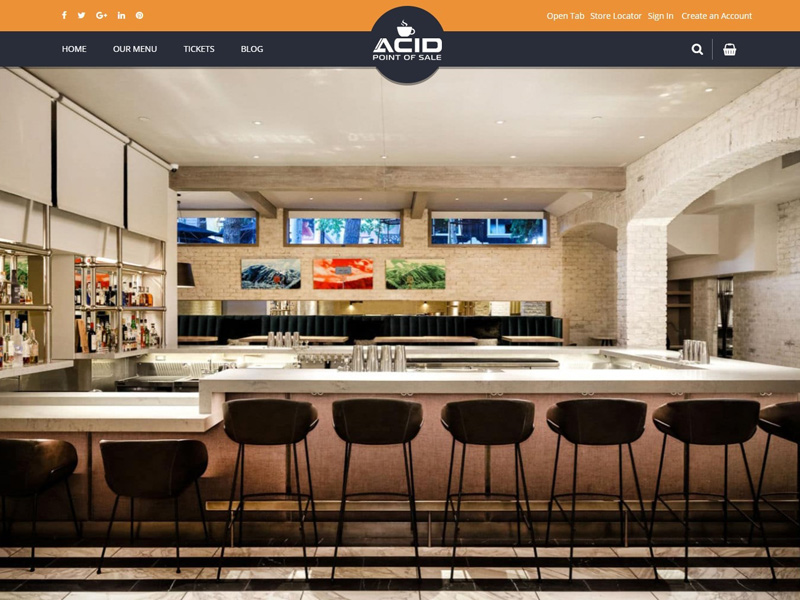 Acid point of sale restaurant bar website