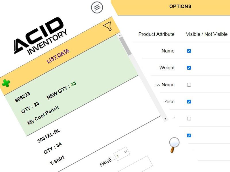 ACID Inventory App - STOR