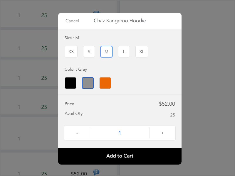 POS Product Options and Variations