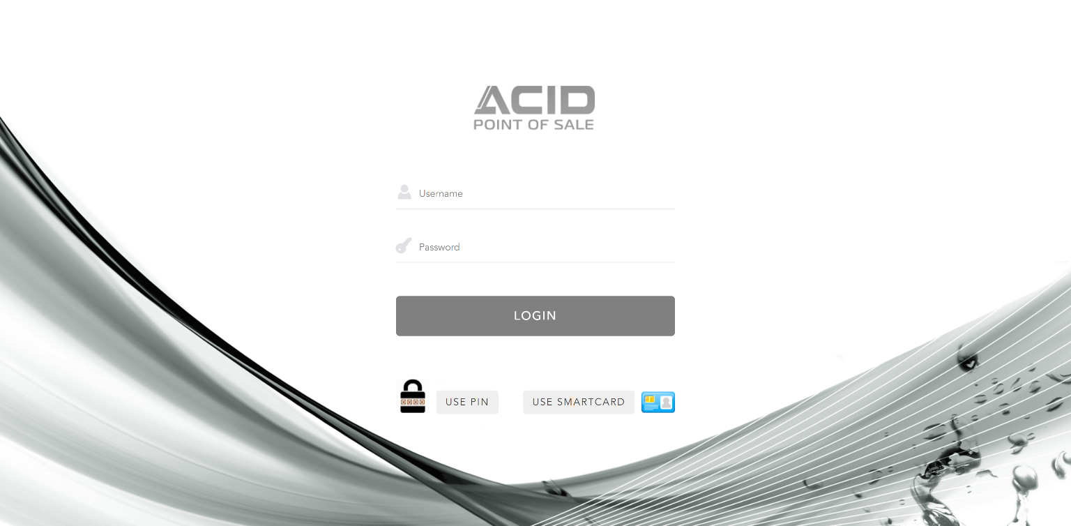 ACID Point of Sale Loading Screen